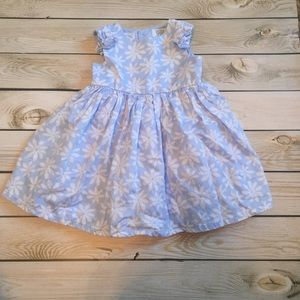Blue Floral Special Occasion Dress 9 mos